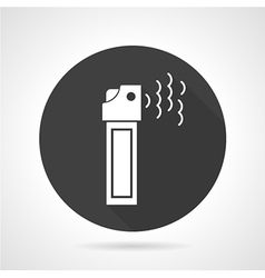 Tear gas black round icon vector