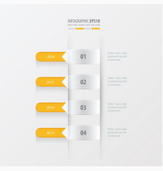 Timeline template yellow color vector