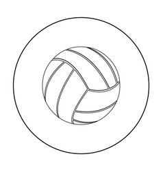 volleyball icon outline single sport icon from vector image vector image