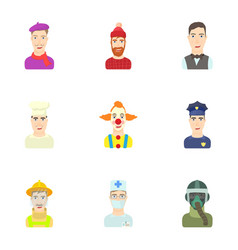 Workers icons set cartoon style vector
