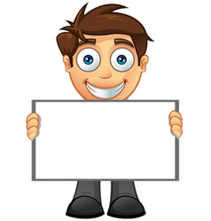 Business man blank sign 5 vector