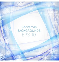 Blue wave christmas background vector image