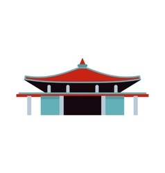 Pagoda icon in flat style vector