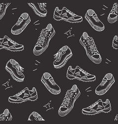 boots doodle seamless pattern vector image