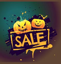 Halloween seasonal sale offer background vector