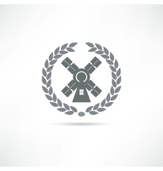 Mill icon vector