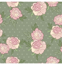 flower retro background vector image