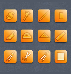 Drawing tools icons set vector