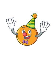 Clown orange fruit cartoon character vector