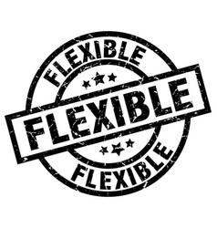 Flexible round grunge black stamp vector
