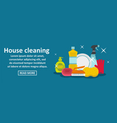 House cleaning banner horizontal concept vector