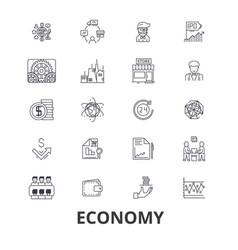 economy economics money business finance vector image