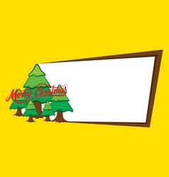 merry christmas banner design vector image
