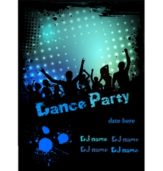 Dance party green blue grunge vector