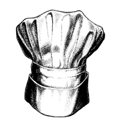 Hat of chef togue vector