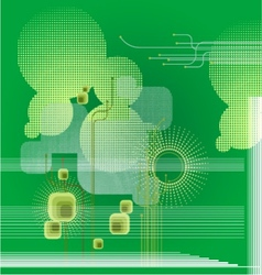 Green abstract geometric background lines vector