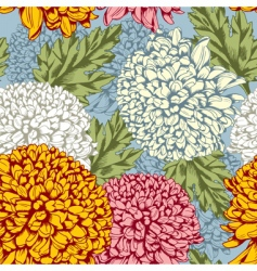 excellent seamless pattern with chrysanthemum vector image