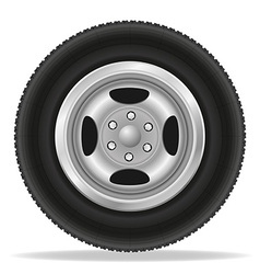 wheel for car 02 vector image