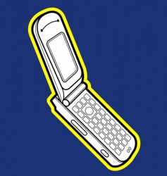 Flip mobile phone vector
