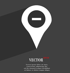 Minus map pointer gps location icon symbol flat vector