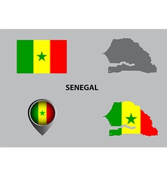Map of senegal and symbol vector