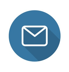 Envelope mail icon flat design vector
