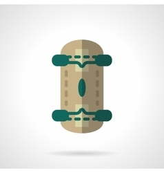 Skateboard flat color design icon vector