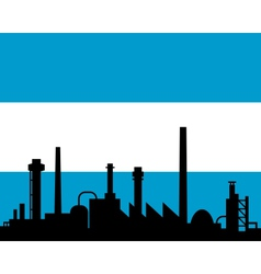 Industry and flag of argentina vector