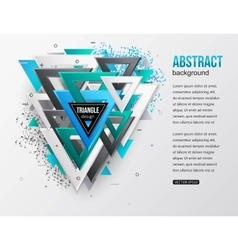 Abstract background with multicolor 3d triangles vector