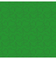 Seamless pattern of lucky four-leaf clover vector