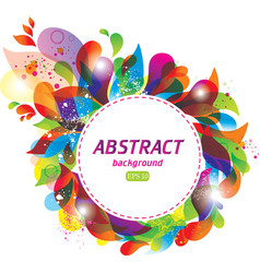 Colorful abstract frame vector image