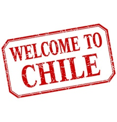 Chile - welcome red vintage isolated label vector