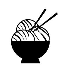 noodle icon Japan culture graphic vector image