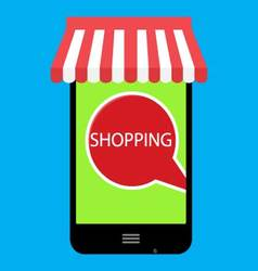 Shopping online with use phone vector