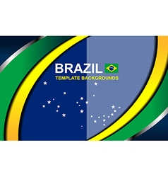 Brazil color backgrounds style vector