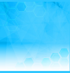 abstract background with low poly and hexagon vector image