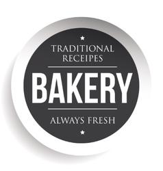 Bakery vintage black stamp sticker vector image