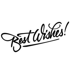 best wishes hand lettering vector image vector image