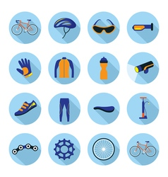 Bicycle Objects and Equipment Icons Set vector image vector image