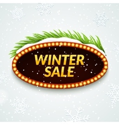 Big sale winter sale sign design template Xmas vector image