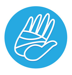 cartoon hand high five vector image vector image