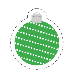 Christmas green ball decorative vector