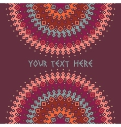 Colorful ethnic background vector image