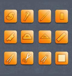 drawing tools icons set vector image