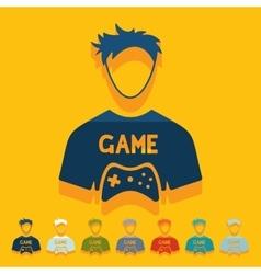 Flat design gamer vector