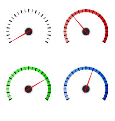 gauge set of colored universal measuring scales vector image