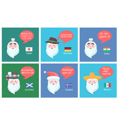 International congratulations from santa clauses vector