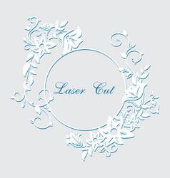 laser cut floral ornament vector image