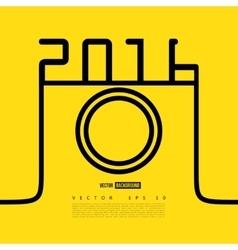 Line camera photo instagram vector