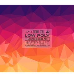 Low poly trangular trendy hipster backgroun vector